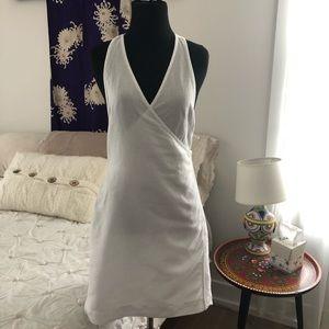 Free People Cotton Linen White wraparound dress L